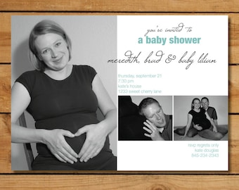 Baby Shower Invitation with Photos