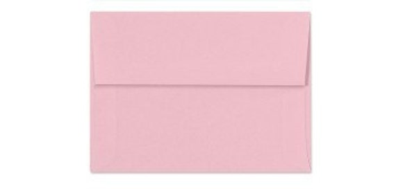 Light Pink Envelopes - Set of 25 Cotton Candy A7 Envelopes - Perfect for 5x7 Photos and Cards