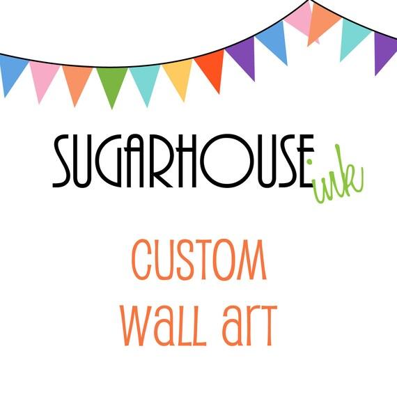Custom Wall Art - You Choose the Words - Digital Art