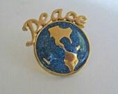 Vintage Peace Pin FREE USA Shipping