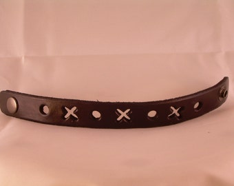 New Hugs and Kisses Leather Wristband