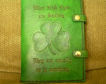 Emerald Green Shamrock Journal