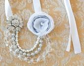 Winter Wonderland Vintage Inspired Organza Necklace