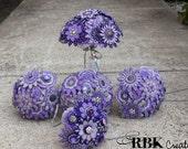Custom Embroidered Felt Bouquet Set