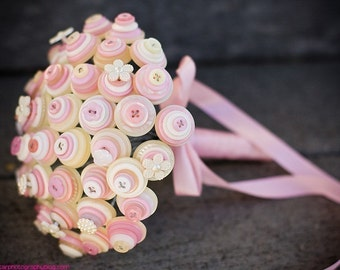 Pretty in Pink Bridal Button Bouquet