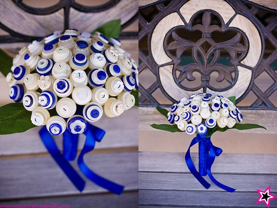 Sky's The Limit Bridal Button Bouquet