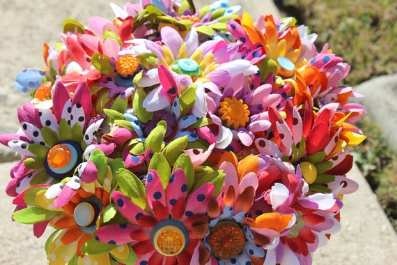 Sale Sale Sale Springs a blooming flower and button bouquet