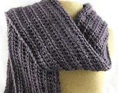 French Lavender medium purple Alpaca Blend Crochet Scarf ... awesome for men or women