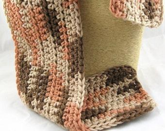 Kid Size Plymouth Autumn 100 percent cotton crochet scarf