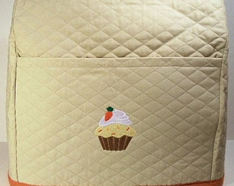 Tan Mixer Cover with Cupcake