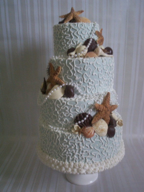 fake wedding cakes for sale fall wedding cake beautiful seaside artificial 3997