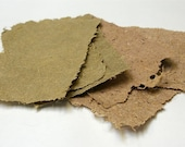 Canemah Studios  6 Sheets of Handmade Paper- Miscanthus and Banana