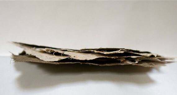 Handmade Dracena and New Zealand Flax papers