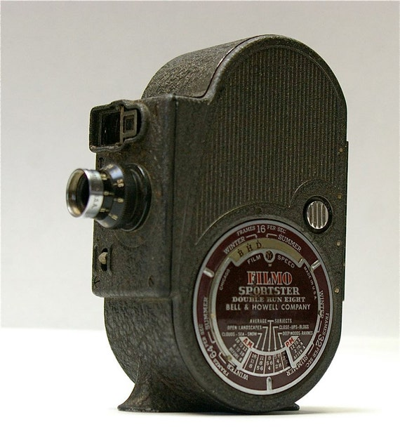 Vintage Bell and Howell Filmo Sportster-Double Run Eight 1939-1950  SALE