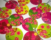 Set of 14 Mini Gift Tags - Chinese Blossoms