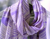 Passion  Luxurios Silk Scarf with Purple and Turquise