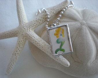 Mermaid soldered art charm