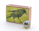 Crow Matchbox Green Aesop's Fable