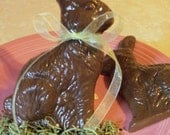 SOAP - Chocolate Easter Bunny Soap - Gift Ready - about 5 ounces of soap - VEGAN