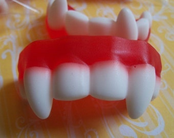 Vampire Fang Soaps - 5 party favors with hang tags - tags can be personalized