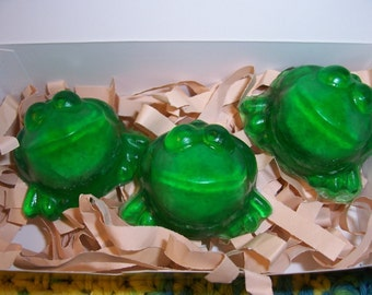 EXPLODING FROG Soaps by Howard's Home(tm) Gift Boxed Set of 3 with product gift tag - birthdays - Harry Potter fans - stocking stuffer