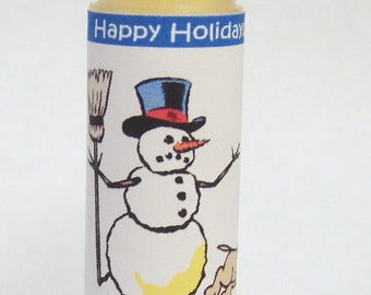 Lip Balm - Yellow Snow Lip Balm - Lemon Ice Flavored - christmas stocking stuffer gift