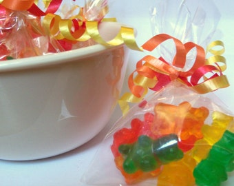 Gummy Bear Soap - PARTY FAVOR BAG - set of 8 individual soaps