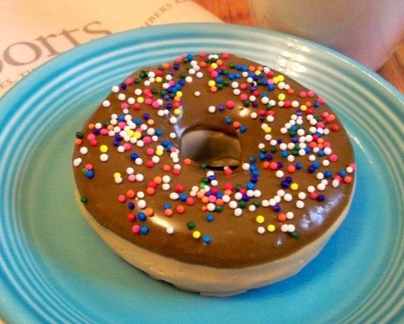 Chocolate Donut Soap With Sprinkles - Life Sized - Gift Ready - National Doughnut Day - National Donut Day