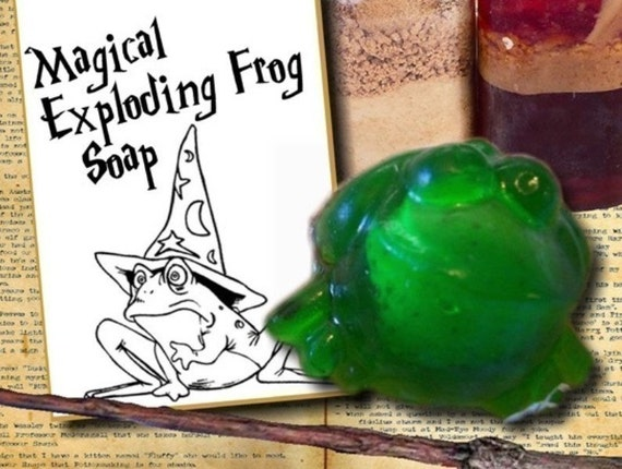 3 EXPLODING FROG SOAPS(tm) with card tags attached - Great for party favors - Harry Potter fans