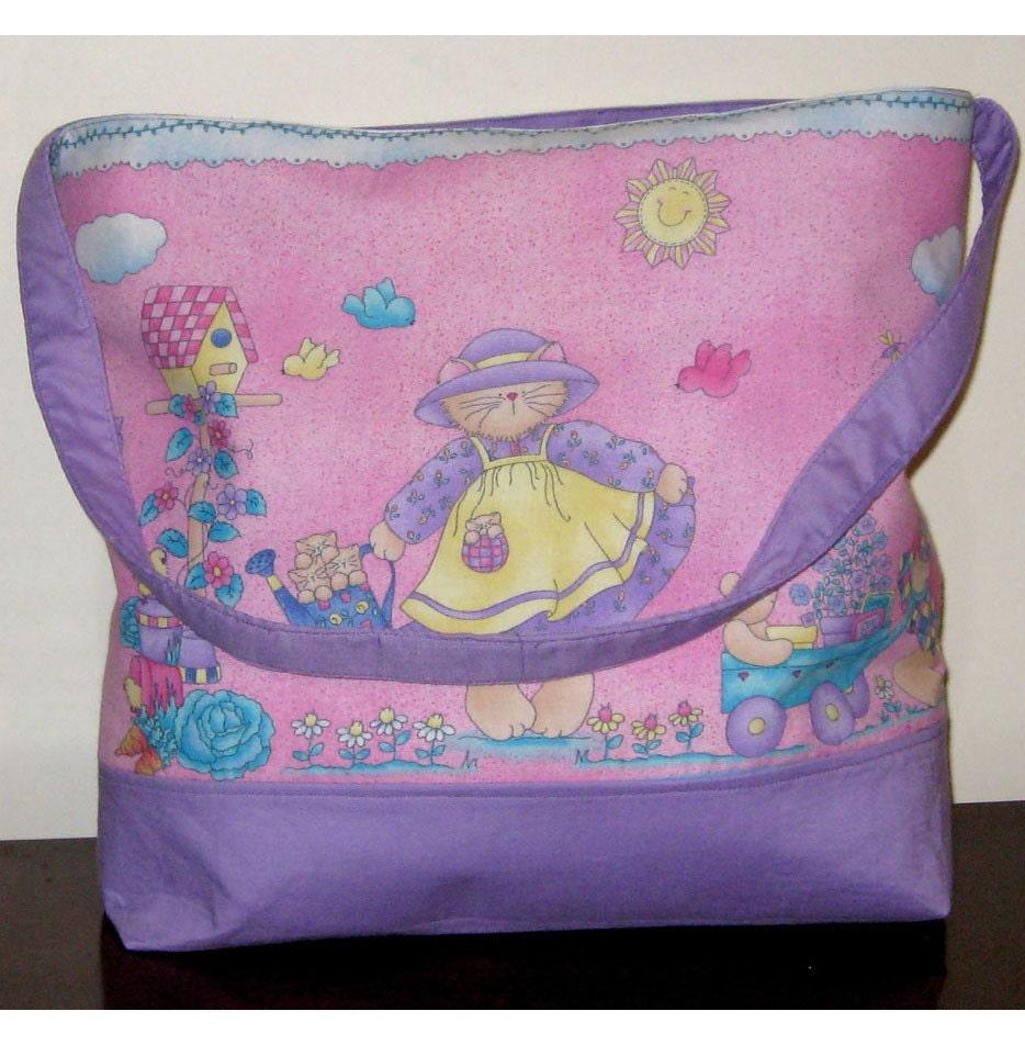 on sale kitty kat tote bag or diaper bag. Black Bedroom Furniture Sets. Home Design Ideas