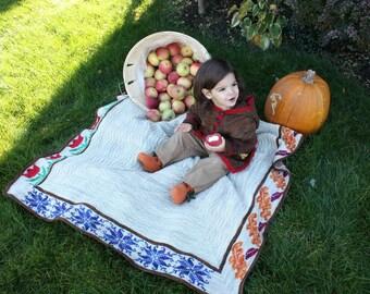 ORGANIC SEASONS BLANKET 4 Seasons 3 Sizes Afghan Knitting Pattern Pdf