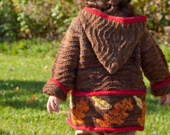ORGANIC SEASONS Jacket 4 Seasonal Motif Cardigan 3 months to 10 years Knitting Pattern PDF