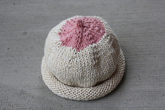 Knitted Boob Pattern : Breast Hat Boob Beanie Nursing Hat Knitting PATTERN PDF
