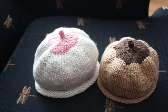 Knitted Boob Pattern : Breast Hat, Boob Beanie, Nursing Hat, Knitting PATTERN PDF baby toddler adult...