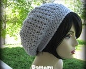 CROCHET PATTERN PDF - instant Digital Download - The Essence of Slouch Oversized Hat - CaN sell items made from this pattern