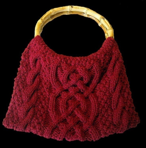 Knitting Pattern Cable Bag : Celtic Braid Cabled Bag/Purse PATTERN Knit by yarnlovertn ...