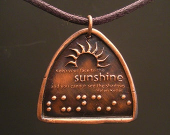 Helen Keller Sunshine Braille Jewelry