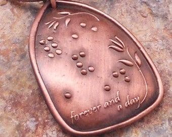 Forever and a Day Braille Pendant