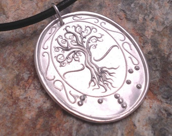 Tree of Life Braille Pendant....Jewelry in Braille