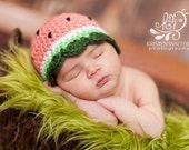 Adorable Newborn Watermelon hat... Ready to ship