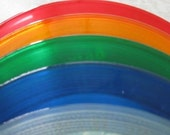 """Colored Records Choose 5 For Art Projects And Crafts 7"""" records Red Yellow Green Blue Clear Custom Wedding table numbers party display"""