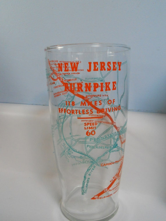 new jersey turnpike beer glass