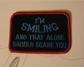 Christmas Clearance I'm Smiling Patch in Red and Light Blue