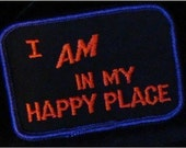 I AM In My Happy Place Patch In Purple And Orange
