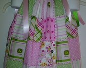 John Deere All Over Print - Pink Pillow Case Dress