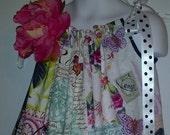 Michael Miller French Journal Collection Bell Rose Pink Pillowcase Dress -Last One