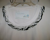Zebra and Crochet Lace  Embellished Maternity Tee