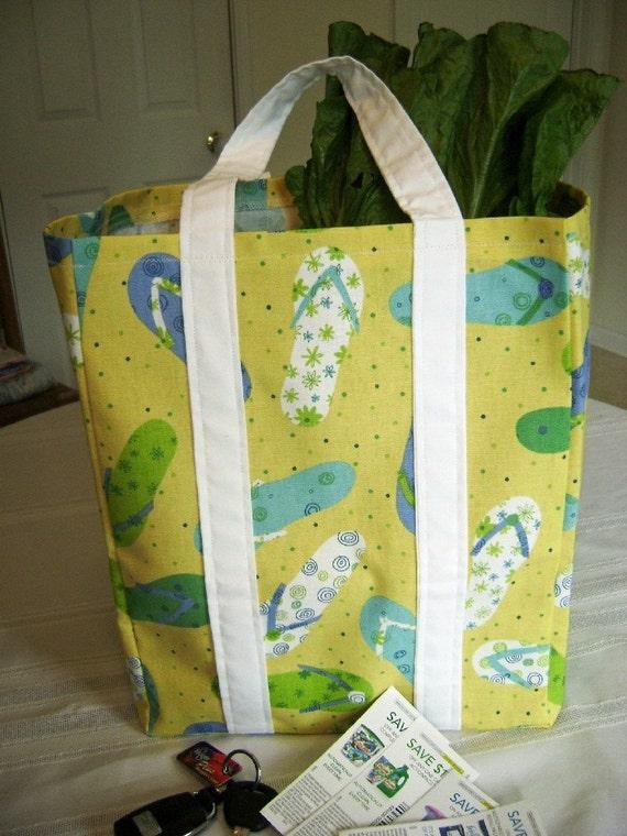 reserved for alittlextrrasomething flip flop market bag tote. Black Bedroom Furniture Sets. Home Design Ideas
