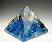 Handmade Glass Power Pyramid