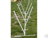 Dog Agility Adjustable Weave Poles with base for Dog Training